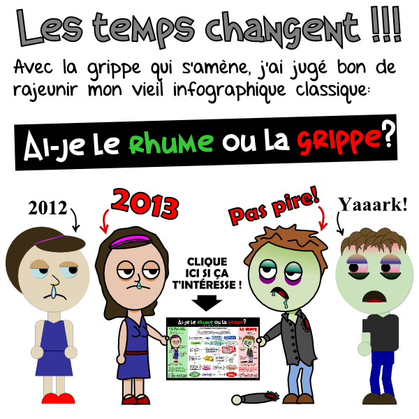 poster grippe annonce vaccins